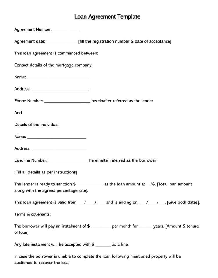 Loan agreement template approveme free contract. 38 Free Loan Agreement Templates Forms Word Pdf