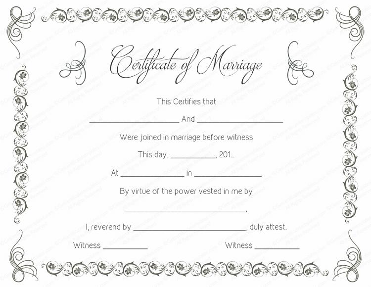 free printable marriage certificates