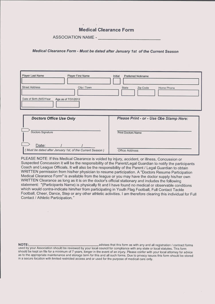 15+ Sample Medical Clearance Forms (Dental, Surgery