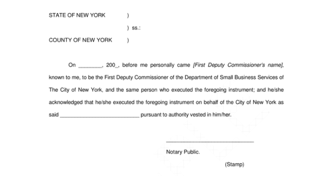 how to write a notarized letter format