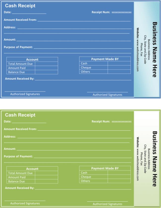 Payment Receipt Template  5 Quick Receipt Maker Formats