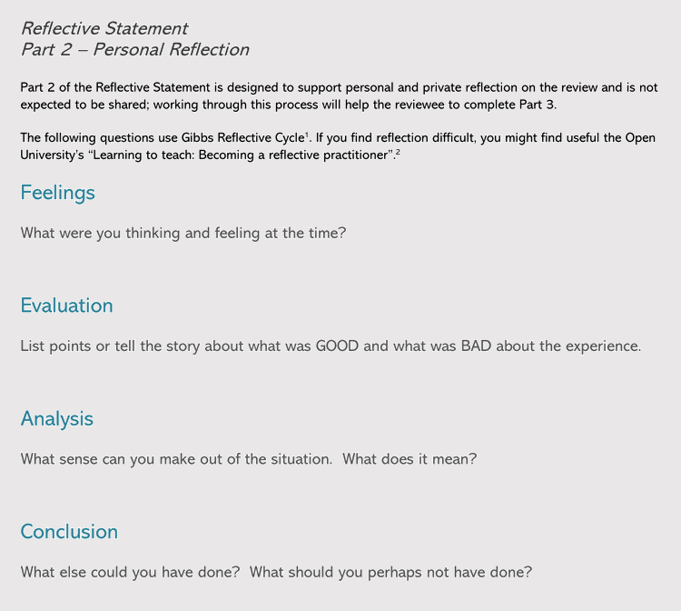 Reflective Statement Templates Amp Samples PDF Word