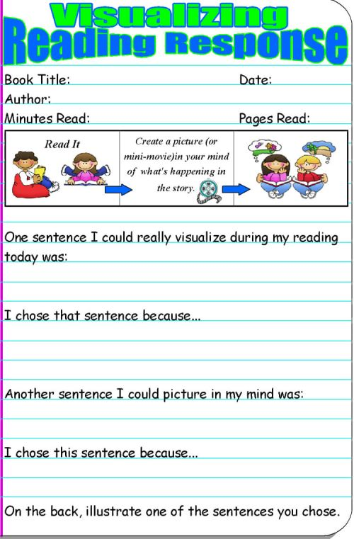 small resolution of 14 Free Reading Response Worksheet Templates (Word