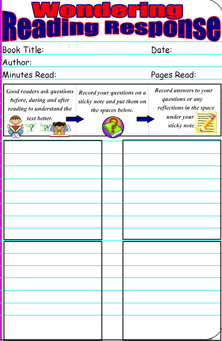 hight resolution of 14 Free Reading Response Worksheet Templates (Word