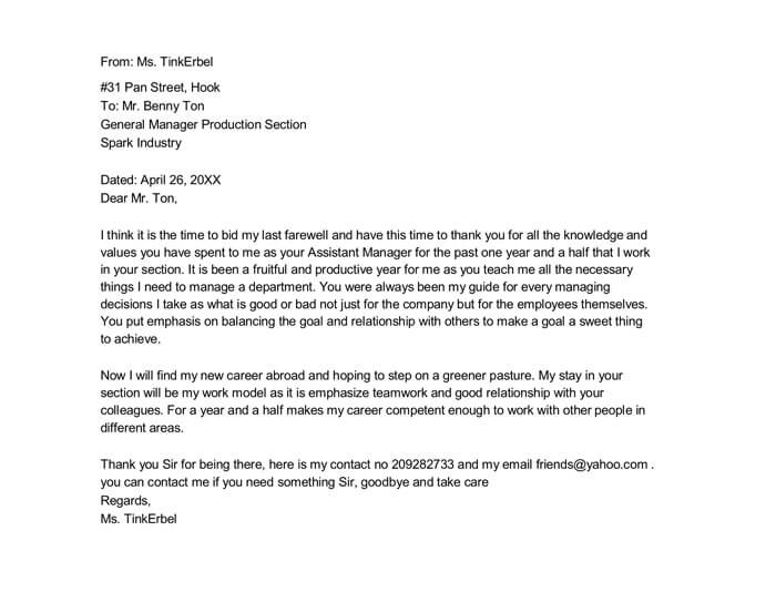 The basic farewell email template. 21 Best Farewell Letter Samples For Boss Colleagues Etc