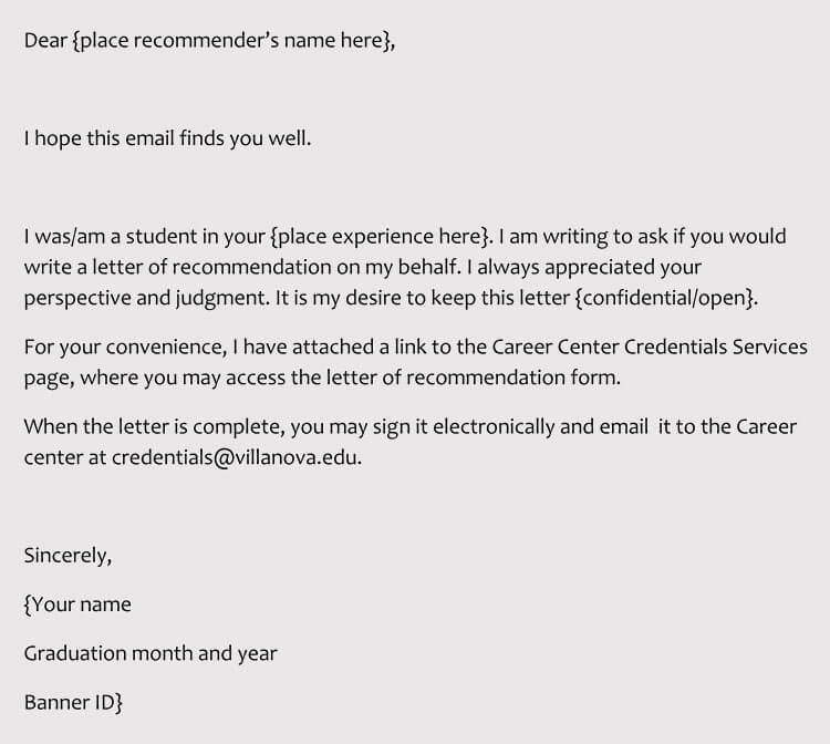 how to ask a recommendation letter