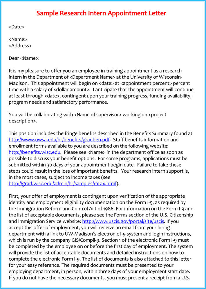 Trainee Appointment Letter  6 Samples Examples  Formats