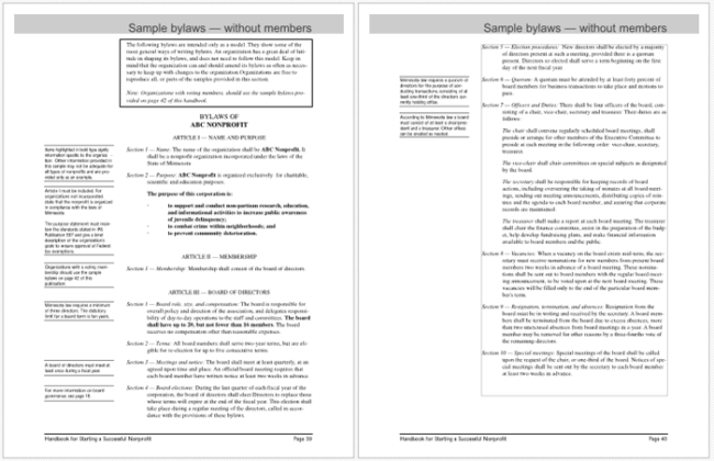 4 Free Bylaws Templates To Help You Write Bylaws In Best Way Possible