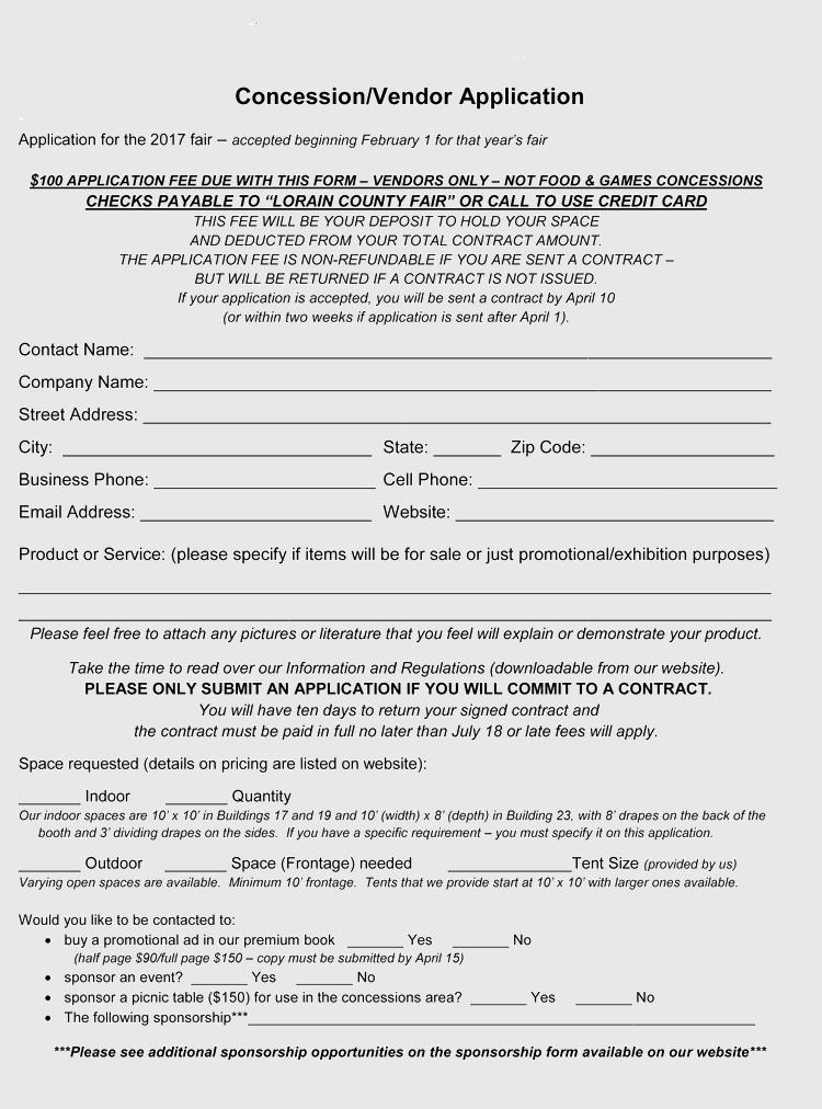 9 Printable Blank Vendor Registration Form Templates For