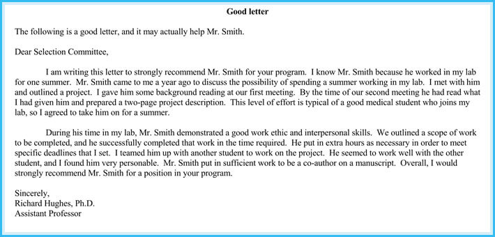 letter of recommendation for volunteer service