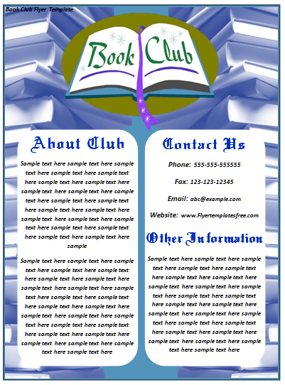 Book Club Flyer Template  Introduce Club to Your Society