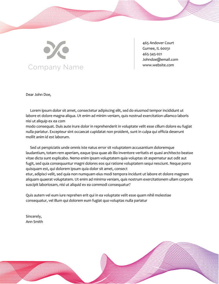 50 free letterhead templates