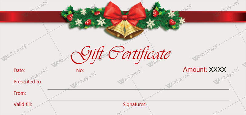 gift certificate template christmas free