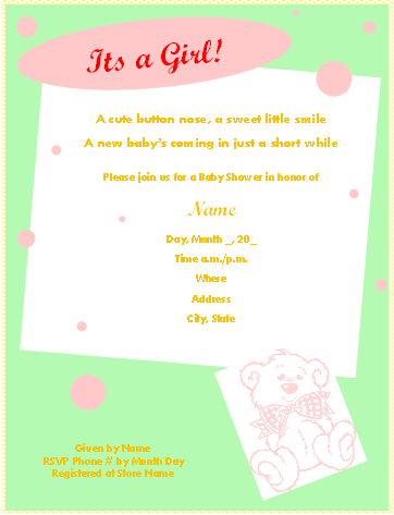 free baby shower invitations templates pdf - 19 baby shower invitation templates free printable pdf