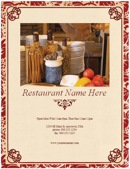 Restaurant Menu Template  8 Free Restaurant Menus