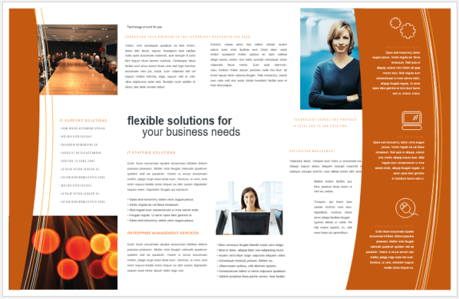 free pamphlet template for microsoft word