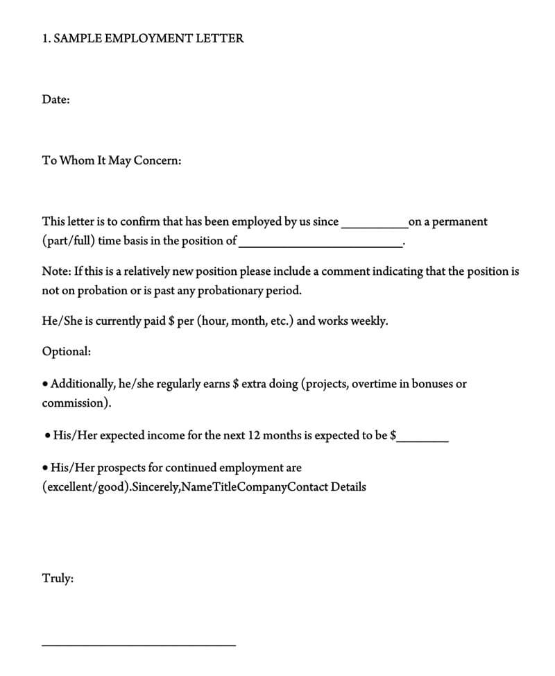 Employment Verification Letter (40+ Sample Letters and Writing Tips)