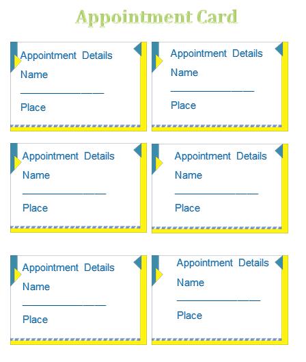reminder card template
