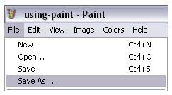 Using Paint to Convert Images into JPG, TIFF and PNGs