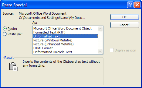 how to convert web text into ms word