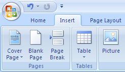 Microsoft Office 2007 Ribbon - Before