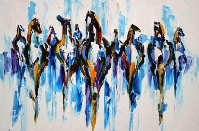 _snow_herd__equine_art_modern_horse_oil_painting_by_texas_artist_laurie_pace_cde695730ccb592c886cb95785a82ddb