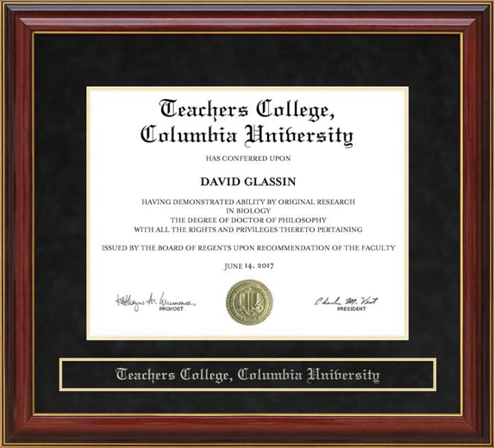 Columbia University Diploma Frame Lithograph   Frameswall.co
