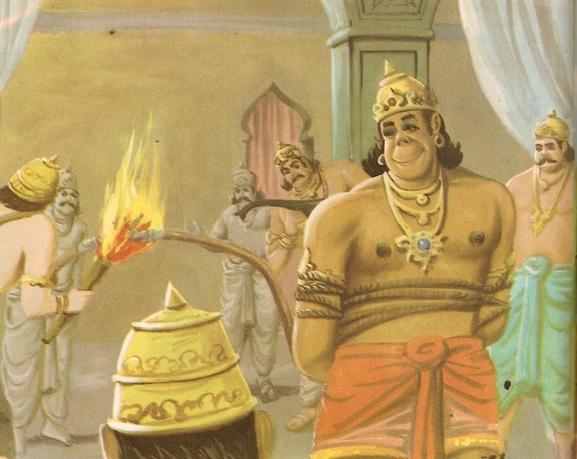 Ramayana Part-7  Lanka Dahan (18)