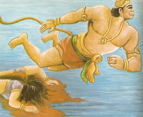 Ramayana Part-7  Lanka Dahan (4)