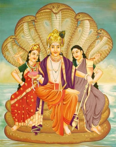 lord_vishnu_Lakshmi and Daridra
