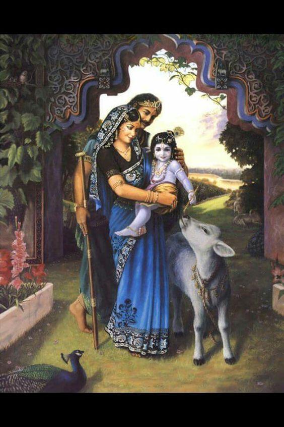 Nand Yashoda and baby krishna: