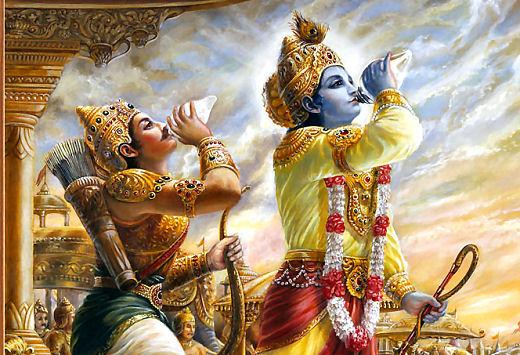 KrishnaArjuna_Shankh