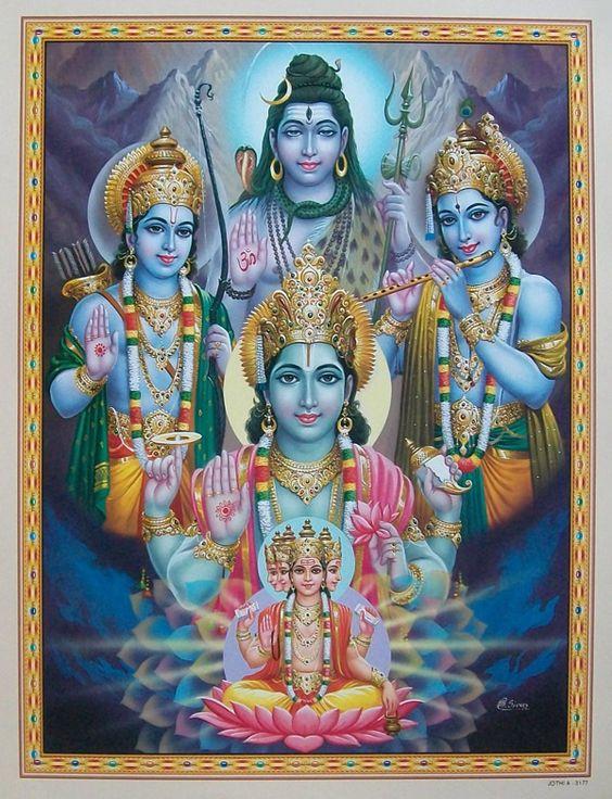 Lord Brahma Vishnu Shiva Rama Krishna