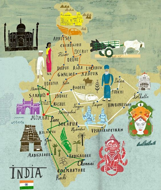 Cultural map of India