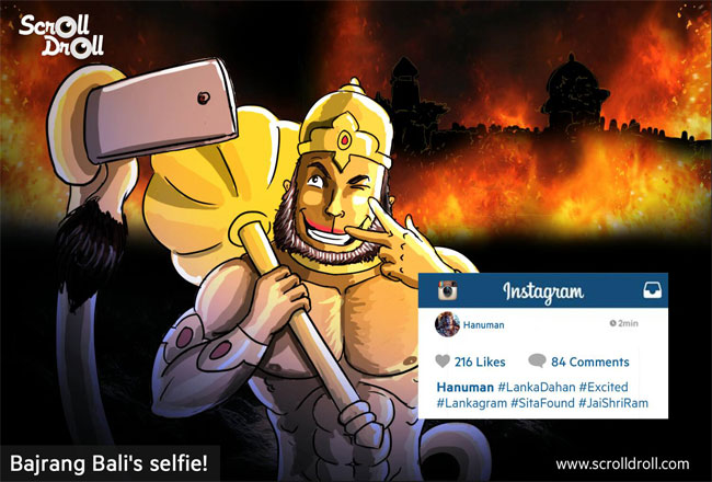Bajrang Bali Selfie on Instagram
