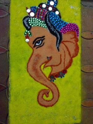 Ganesha Rangoli 12