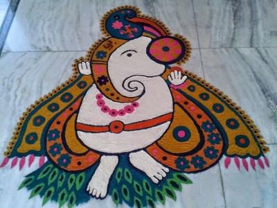 Ganesha Rangoli 18