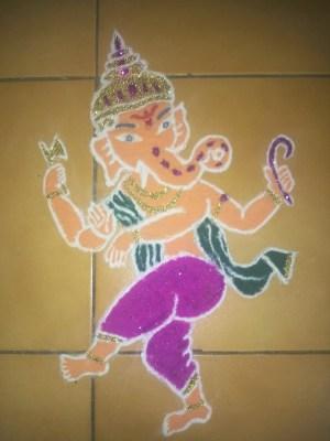 Ganesha Rangoli 35
