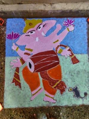 Ganesha Rangoli 9