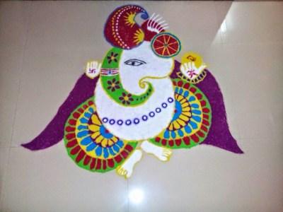 Ganesha Rangoli 36