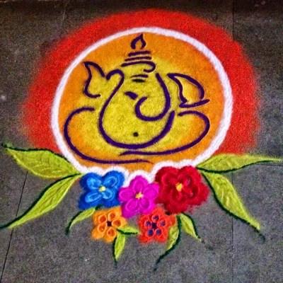 Ganesha Rangoli 5