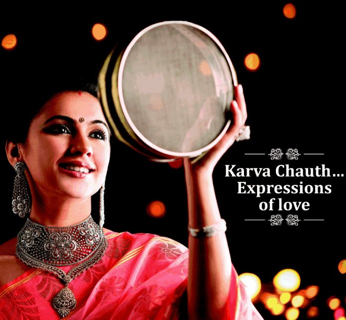 Karva Chauth Expressions Of Love Beautiful Lady Picture - Karwa Chauth