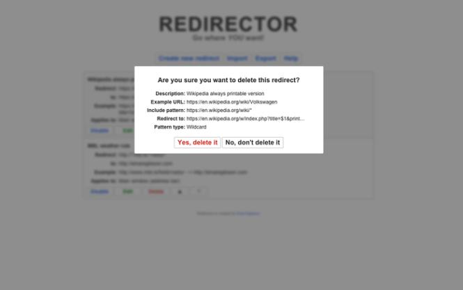 redirector-screen