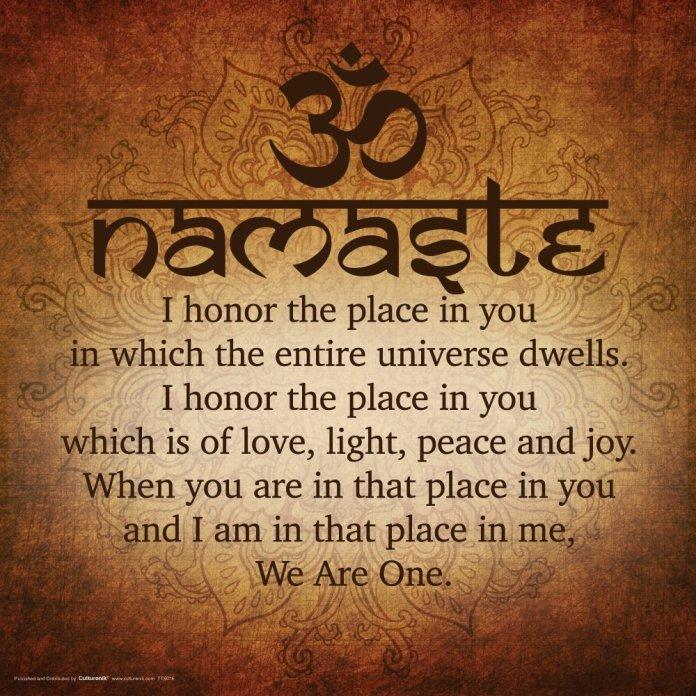 Namaste Symbol Of Indian Culture Wordzz