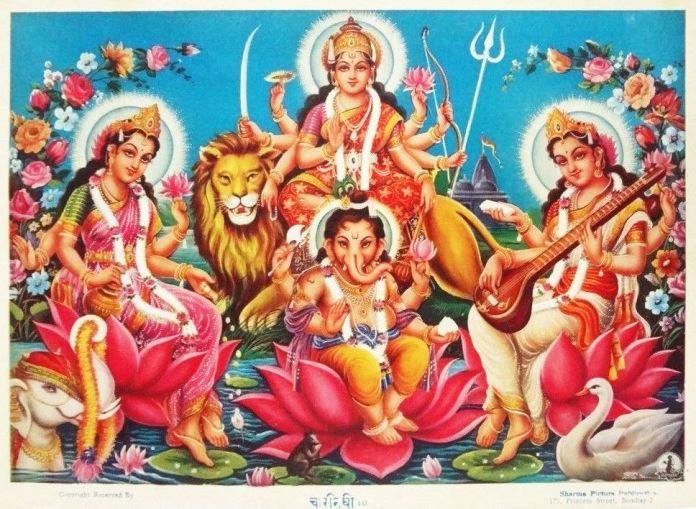 Bal Ganesh - Saraswati Mata Image Collection 1