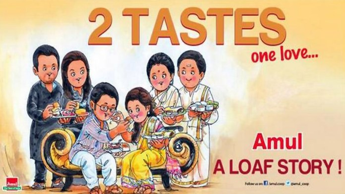 Perfectly said 2 states one love - 50 Impressive Bollywood-Inspired Amul Ads!