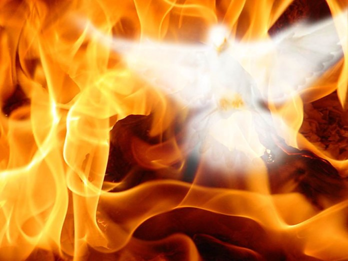 Amazing burning image of Holy spirit
