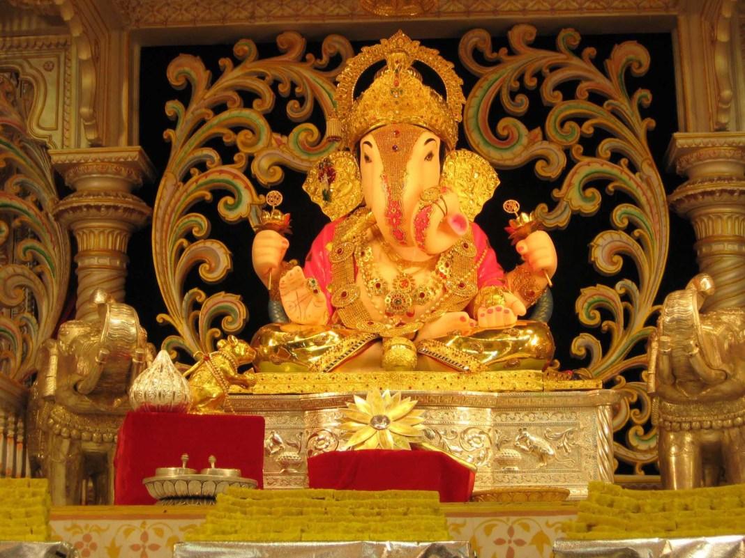 Lovely decoration of God Siddhivinayak