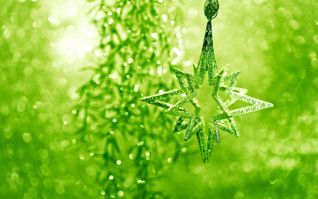 Amazing Christmas star in green color
