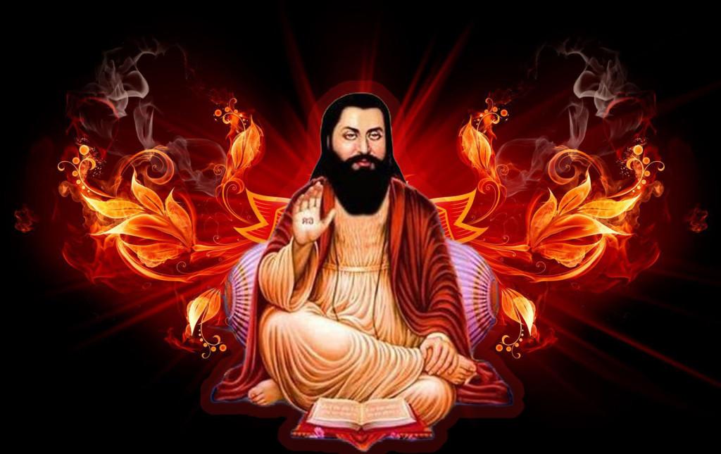 Sant Guru Ravidass ji image with 3d background